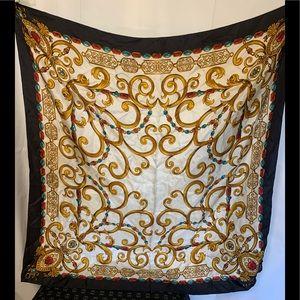 Echo crown jewels silk scarf 35x35